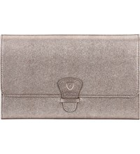 Aspinal Of London Classic Saffiano Leather Travel Wallet Grey