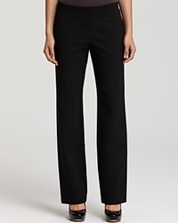 Eileen Fisher Straight Leg Stretch Ponte Pants Black
