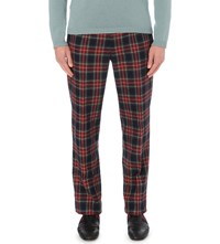 Gucci Tailored Fit Tartan Trousers