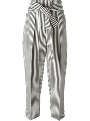 3.1 Phillip Lim Cropped Striped Trousers Blue
