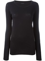 Lareida Scoop Neck Sweatshirt Black