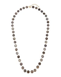 Emily And Ashley Greenbeads By Emily And Ashley Long Golden Mother Of Pearl Coin Necklace Brown