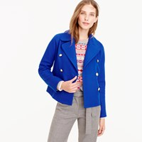 J.Crew Cropped Double Breasted Peacoat