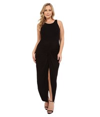 Christin Michaels Plus Size Vivian Tank Maxi Dress With Twist Detail Black Women's Dress