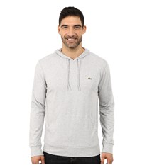Lacoste Jersey T Shirt Hoodie Silver Grey Chine Men's Sweatshirt Gray