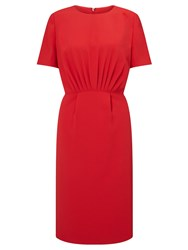 John Lewis Front Pleated Dress Red