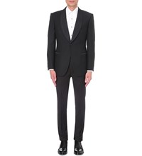 Gieves And Hawkes Regular Fit Wool Mohair Blend Jacket Black