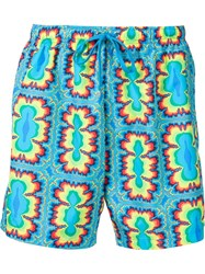 Jeremy Scott Psychedelic Print Swim Shorts Blue