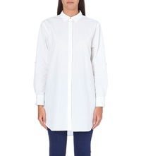 Mih Jeans Oversized Cotton Shirt White