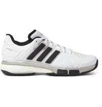 Adidas Sport Tennis Energy Boost Rubber Trimmed Mesh Sneakers White