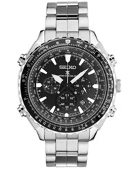 Seiko Men's Solar Chronograph Prospex Radio Sync Stainless Steel Bracelet Watch 48Mm Ssg001 Silver