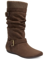 Report Everton Slouchy Sweater Boots Women's Shoes Dark Brown