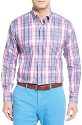 Men's Big And Tall Peter Millar 'Pin Plaid' Regular Fit Sport Shirt
