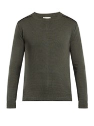 Wooyoungmi Blanket Stitched Wool Sweater Green