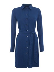 Gant Dobby Shirt Dress Indigo