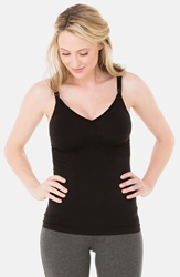 Ingrid And Isabel Seamless Maternity Nursing Tank Black