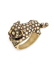 Heidi Daus No Monkey Business Swarovski Crystal And Multicolored Rhinestone Ring Gold