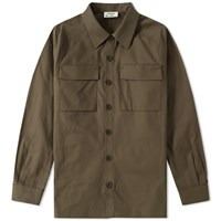Acne Studios Sontag Twill Overshirt Green