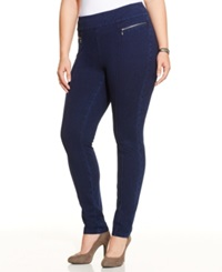 Style And Co. Plus Size Pull On Skinny Jeggings Galaxy Wash