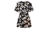 Whistles Marisa Loop Print Drape Tunic Multicolour