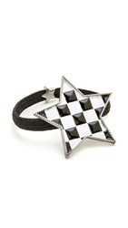 Marc Jacobs Checkerboard Star Hair Tie Black Multi