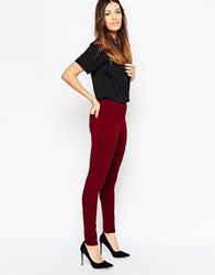 French Connection Hells Ponte Leggings In Biker Berry Biker Berry Red