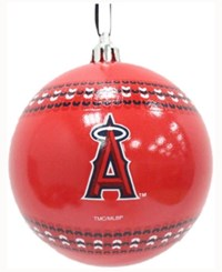 Memory Company Los Angeles Angels Ugly Sweater Ball Ornament Red