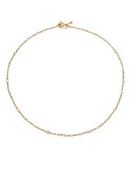 Temple St. Clair Classic Karina White Sapphire And 18K Yellow Gold Station Necklace Yellow Gold Sapphire