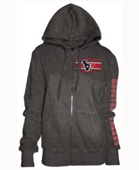 5Th And Ocean Women's Houston Texans Backfield Le Hoodie Charcoal