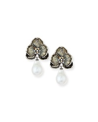 Orchid Baroque Pearl And Diamond Earrings Michael Aram