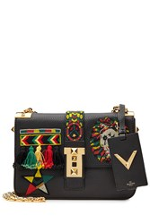 Valentino B Rockstud Embellished Leather Shoulder Bag Multicolor