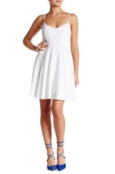 Eleven Paris Seven Sleeveless Fit And Flare Dress White