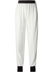 Vionnet Contrast Tapered Trousers White