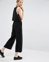 Dr. Denim Dr Abel Cropped Wide Leg Trousers Black