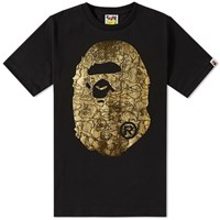 A Bathing Ape Foil Neon Camo Big Head Tee Black