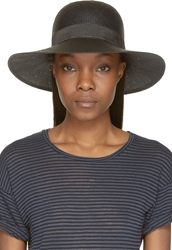 Rag And Bone Black Wide Brim Beach Hat