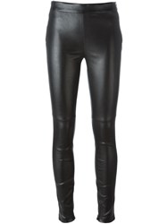 Givenchy Embossed Leather Leggings Black