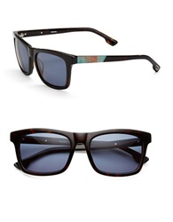 Diesel Oil Slick 57Mm Square Sunglasses Blue