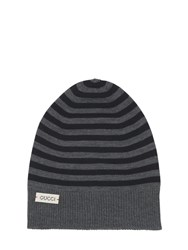 Gucci Stripes Wool Knit Beanie Hat
