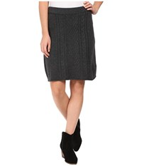 Hatley A Line Cable Knit Skirt Grey Women's Skirt Gray