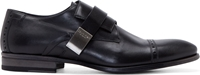 Calvin Klein Black Leather Monk Strap Shoes