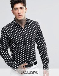 Noose And Monkey Shirt With All Over Star Print Black