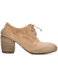 Marsell Wood Heel Lace Up Shoes Nude And Neutrals