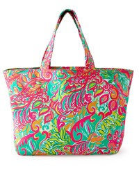 Foliage Print Beach Tote Multi Colors Lilly Pulitzer