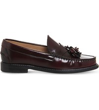 Office Bea Leather Loafers Burgundy Box Leather