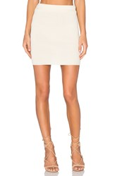 For Love And Lemons Knitz Delancey Skirt Cream