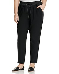Lafayette 148 New York Plus Ankle Track Pants Black