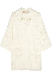 Emilio Pucci Hooded Crocheted Cotton Coverup White
