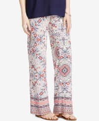 Jessica Simpson Maternity Printed Wide Leg Pants Red White And Blue