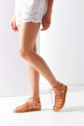 Urban Outfitters Honey Leather Gladiator Sandal Nude